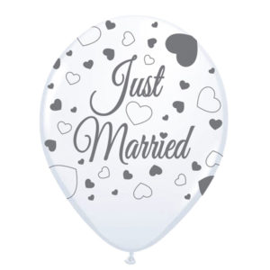 Ballon Just married 8 stuks